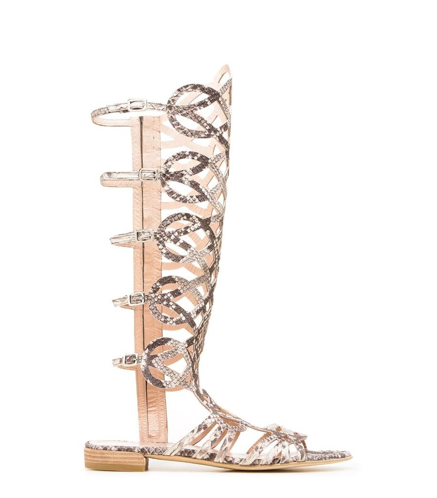 Stuart Weitzman Knee-High Gladiator Sandals