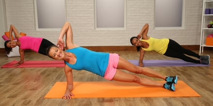 bodyweight workout planks and squats  popsugar fitness