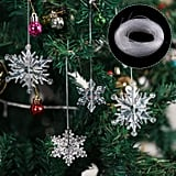 Boao 35 Pieces Clear Acrylic Crystal Snowflakes Ornaments
