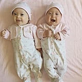 """And while her spirits were high, Rachael's the first person to admit she was nervous about bringing two babies into the world at once. """"When you talk to people who are twins or had twins, they all say, 'Twins rock!' I can now testify to that. Twins are so much fun!"""" Most of her fears stemmed from issues that could arise in the delivery room: """"My husband was elated to have twins from the beginning. I, however, started out terrified, mainly of delivering in the operating room and of potentially needing a Cesarean,"""" Rachael said. """"After talking to others who had multiples themselves, I soon calmed down. I can now attest to the greatness of having two."""""""
