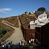 A 1-Year-Old Boy Towers Over the US-Mexico Border in This Moving Art Installation