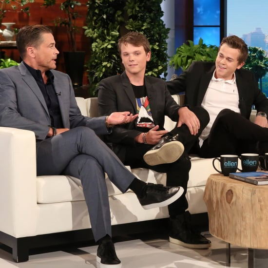 Rob Lowe and Sons on Ellen DeGeneres Show April 2017