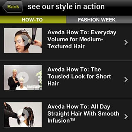 New Aveda iPhone App