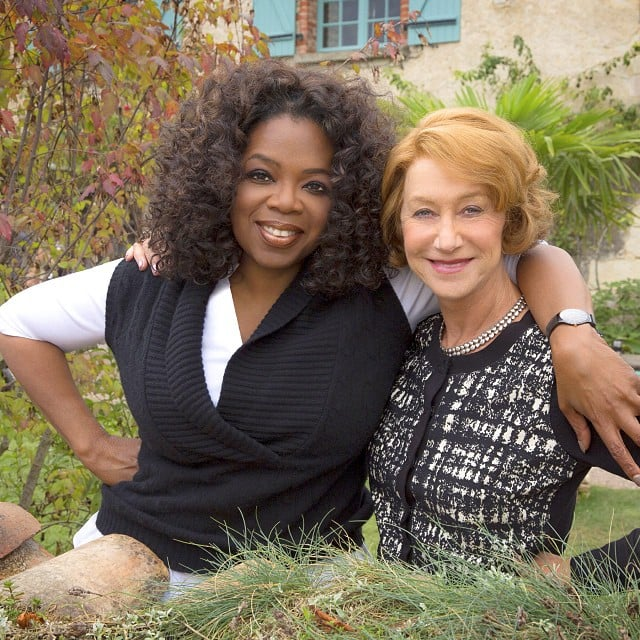Oprah Winfrey and Helen Mirren posed together in the French countryside while on the set of a new movie. Source: Instagram user oprah