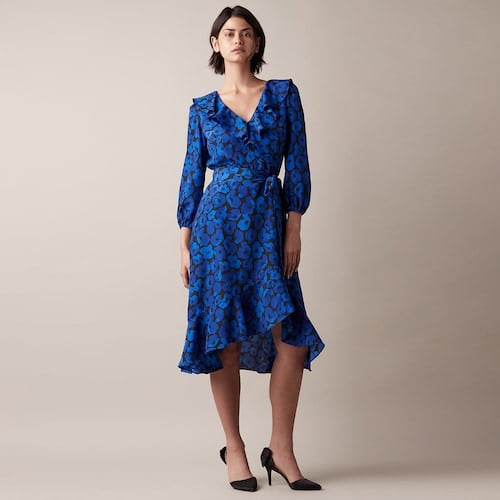 JW Jason Wu Printed High-Low Dress