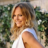 Malin Akerman smiles at a Miu Miu party.