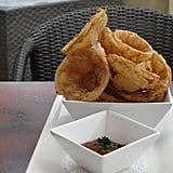 But perhaps the best course of the day was the onion rings. These colossal bites were lightly battered in cornmeal, then fried to perfection, with not a hint of grease. I enjoyed them lightly dipped in house-made anchovy ketchup.