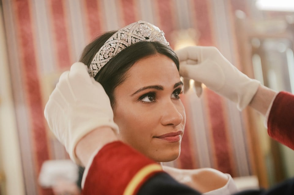 "Get ready for another movie about Prince Harry and Meghan Markle's romance! After announcing the sequel to Lifetime's Harry & Meghan: A Royal Romance in February, we now have the first look at Harry & Meghan: Becoming Royal. This time, Charlie Field and Tiffany Smith are stepping into the roles of the Duke and Duchess of Sussex as they portray the couple's first year as newlyweds and ""the untold joys and challenges of life inside the royal family."" And it looks like we'll be seeing the royal wedding reenacted onscreen as Smith dons Markle's iconic tiara. You can relieve their love story when the film premieres on May 27.       Related:                                                                                                           From Rom-Coms to Dramas: All the Places You Can Still Watch Meghan Markle's Movies"