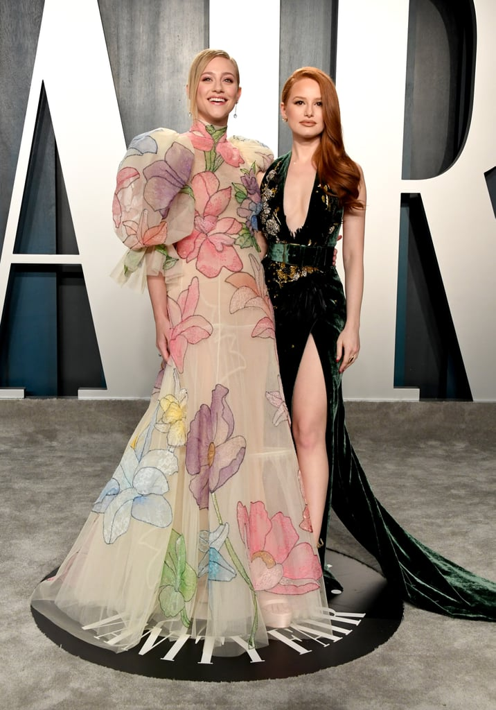 Lili Reinhart and Madelaine Petsch at the Vanity Fair Oscars Party 2020