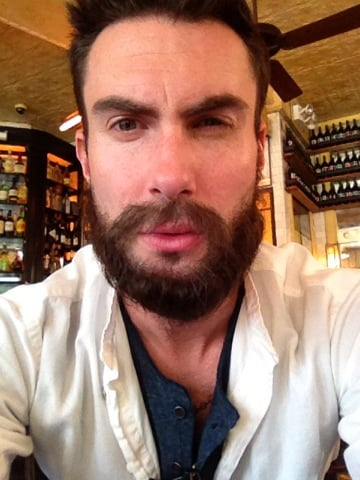 Adam Levine showed off his new beard. Source: Twitter user adamlevine