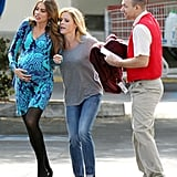 Sofia Vergara and Julie Bowen filmed a scene for Modern Family in which the character Gloria goes into labor.