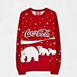 Pull & Bear Red Coca-Cola Polar Bear Sweater
