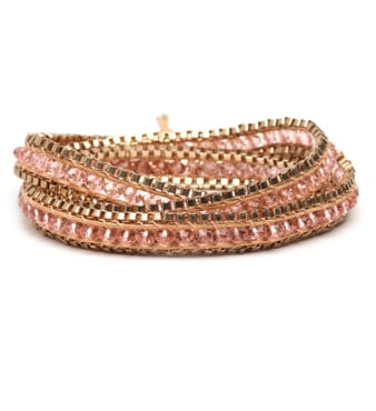 """I love gifting friends with bracelets — these boho-cool wrap pieces are easy to mix and match and are affordable enough to stock up on and include with holiday cards."" — Brittney Stephens, assistant editor  Bauble Bar Think Pink Wrap ($32)"