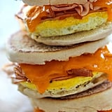 Freezer-Friendly Ham, Egg, and Cheddar Breakfast Sandwiches