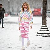 A White Pair For Snow-ordination With Candy Colors