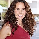 At the Hallmark Movie Channel party, Andie MacDowell wore her hair in its natural texture while keeping her makeup palette simple and neutral.