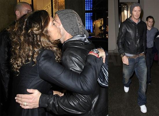 David Beckham and Roberta Armani
