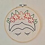 Frida Kahlo Flower Crown Hoop