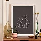 Nadja Minimal Line Art of a Woman Art Print