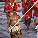 Oiled Tonga Flag Bearer