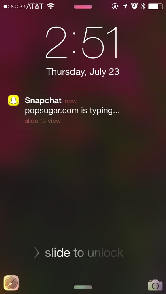 how to stop snapchat typing notifications
