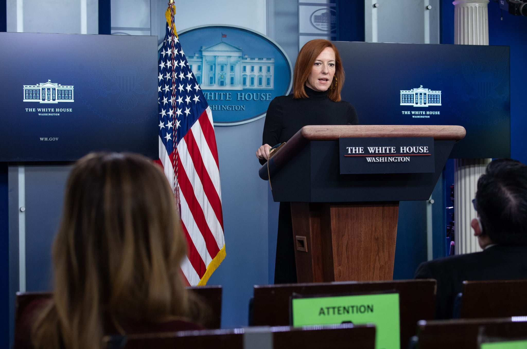White House Press Secretary Jen Psaki speaks during a press briefing on February 3, 2021, in the Brady Briefing Room of the White House in Washington, DC. (Photo by SAUL LOEB / AFP) (Photo by SAUL LOEB/AFP via Getty Images)