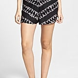 RVCA Lower Deck Print High Waist Shorts ($52)
