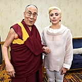 Lady Gaga Meets Dalai Lama at US Conference of Mayors 2016