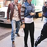 Katy Perry and John Mayer took to the sidewalk in NYC.