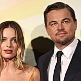 Margot Robbie and Leonardo DiCaprio at the Once Upon a Time in Hollywood premiere in Rome.