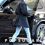 Hailey Baldwin's Black Ash Boots January 2019