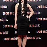 Rachel Korine attended the Spring Breakers premiere in Madrid.