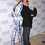Karolina Kurkova posed with Roberto Cavalli at the event in NYC.