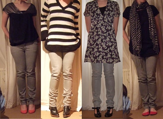 How to Wear Silver Skinny Jeans