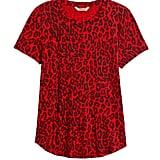 Slub Cotton-Modal Print T-Shirt