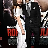 Hailee Steinfeld posed for photos with Douglas Booth.