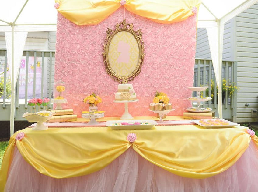 Belle Birthday Party Decorations Princess Belle Inspired Beauty And Stunning Belle Birthday Decorations