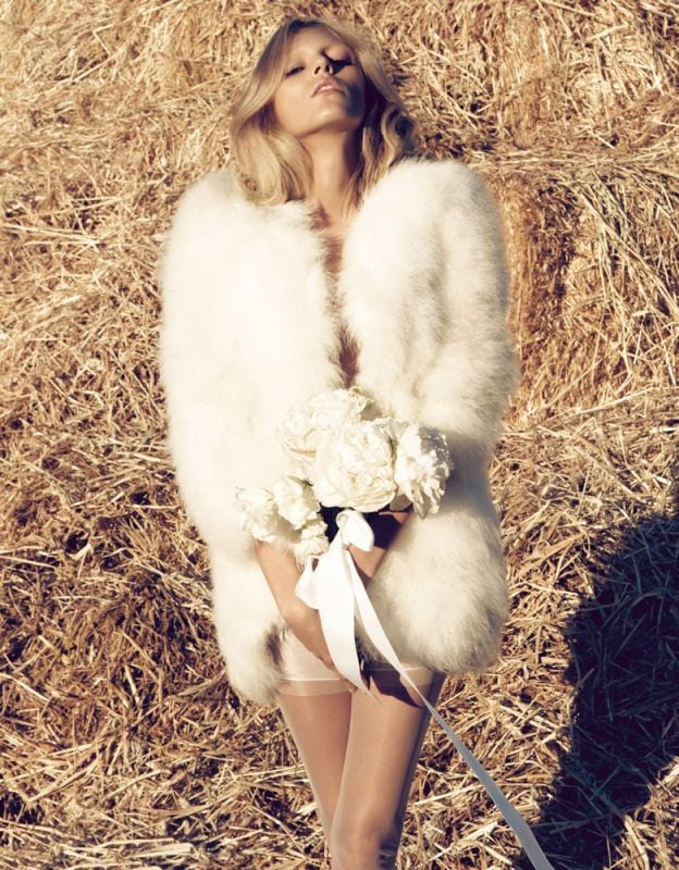 Anja Rubik's glamorous wedding-inspired editorial in Vogue Nippon made us all wish we were brides-to-be.