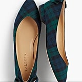 Talbots Edison Flannel Bow-Back Flats