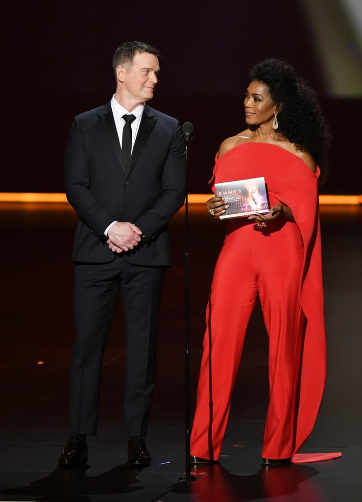 Peter Krause and Angela Bassett at the 2019 Emmys