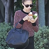 Nicole Richie had her hands full with some fresh juices in LA.