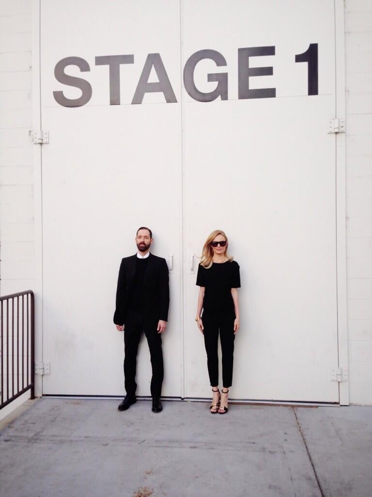 Kate Bosworth and husband Michael Polish posed for an artsy snap after an appearance on Chelsea Lately. Source: Twitter user katebosworth
