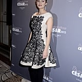 Marion Cotillard at a dinner in Paris.