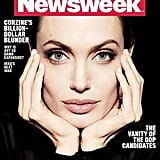 Angelina Jolie on the cover of Newsweek.