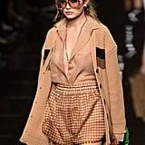 Gigi Hadid Wearing Zendaya's Fendi Outfit During Milan Fashion Week