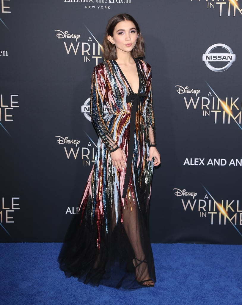 Rowan Blanchard at the Premiere of Disney's A Wrinkle in Time
