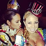 Christina Milian and her pal wore fun hats.  Source: Instagram user christinamilian