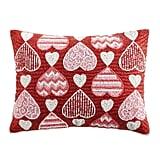 Beaded Valentine Hearts Pillow