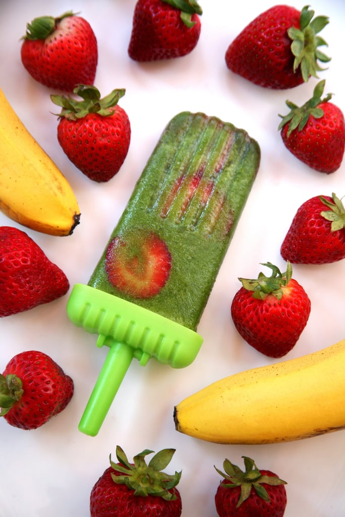 Strawberry-Banana Recovery Popsicles