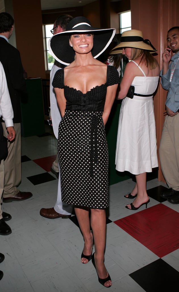 In 2006, Jaime Pressly popped up in Kentucky for the races.